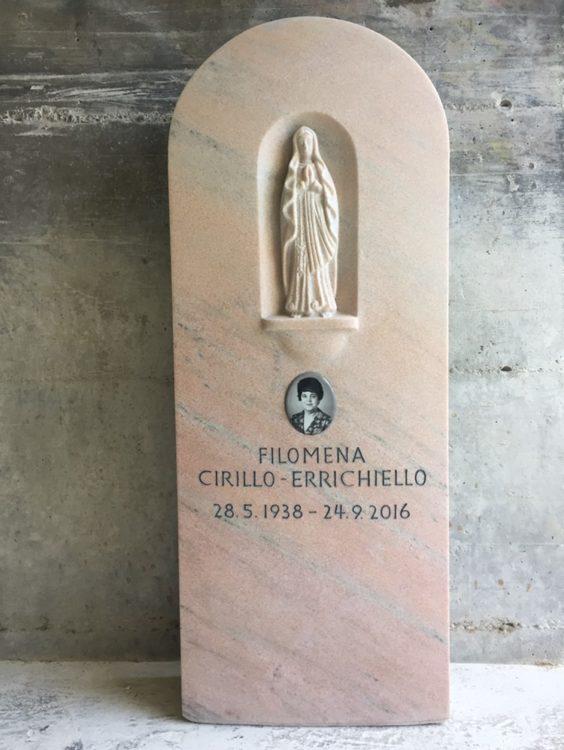 Grabstein Madonna Rosa Marmor