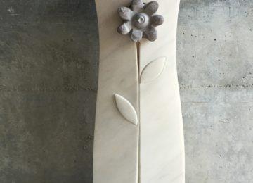 Grabstein Rosa Marmor Blume